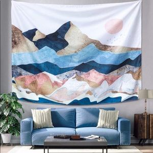 Colorful Mountain Tapestry